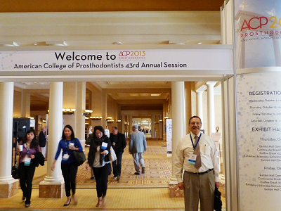 Dr. Matthew Zizmor at the American College of Prosthodontists Convention