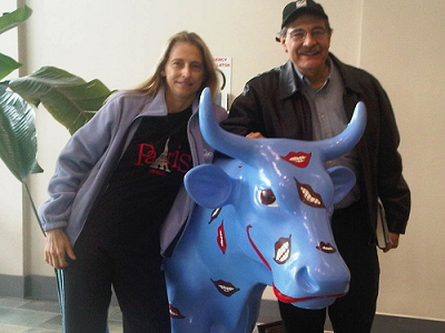 Dr. Matthew Zizmor and Liz at the Massachusetts Dental Society HQ