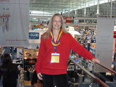 Liz attending the Yankee Dental Congress at the Boston Convention Center